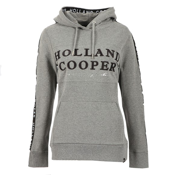 Holland Cooper Womens Grey Deluxe Hoody