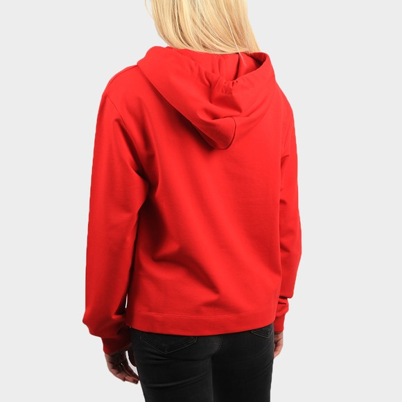 Love Moschino Womens Red Established Love Overhead Hoody main image