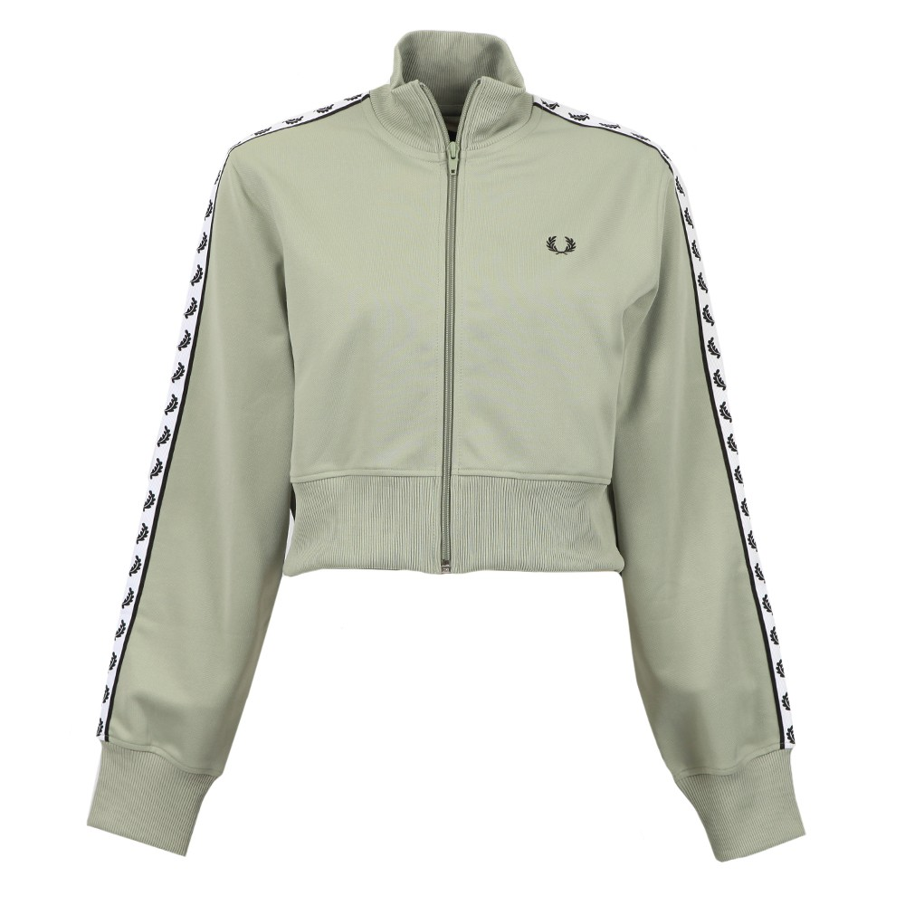 Cropped Taped Track Jacket main image