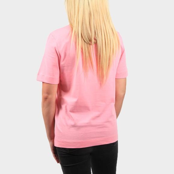 Love Moschino Womens Pink Rainbow Heart T Shirt main image