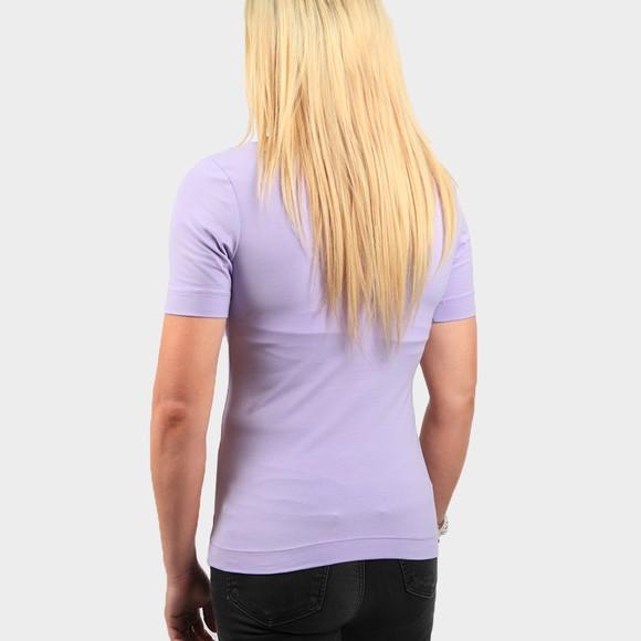 Calvin Klein Jeans Womens Purple Micro Branding Stretch High Neck T Shirt main image