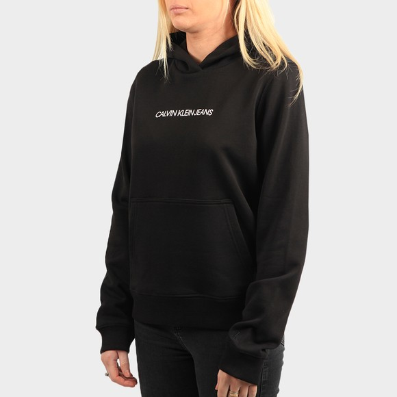 Calvin Klein Jeans Womens Black Shrunken Institution Hoodie