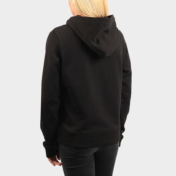 Calvin Klein Jeans Womens Black Shrunken Institution Hoodie main image