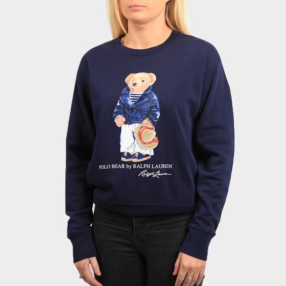 Polo Bear By Ralph Lauren Womens Blue POLO Bear Fleece Sweatshirt