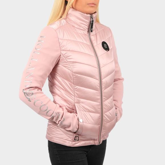 Holland Cooper Womens Pink Equi Hybrid Puffer