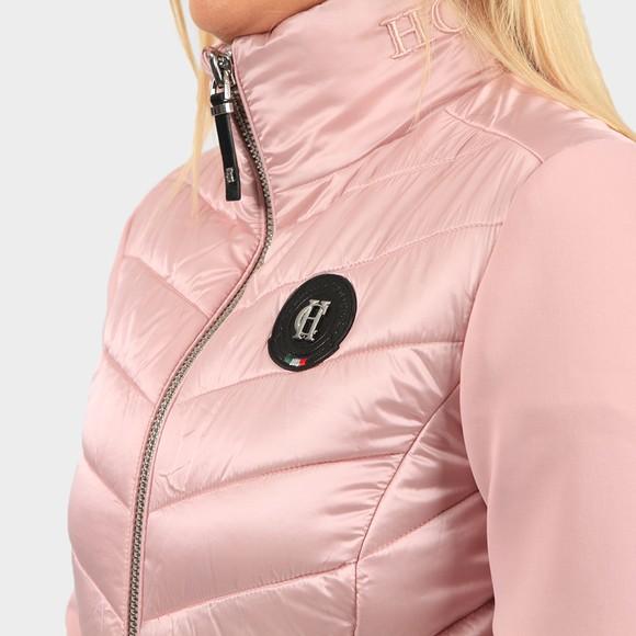 Holland Cooper Womens Pink Equi Hybrid Puffer main image