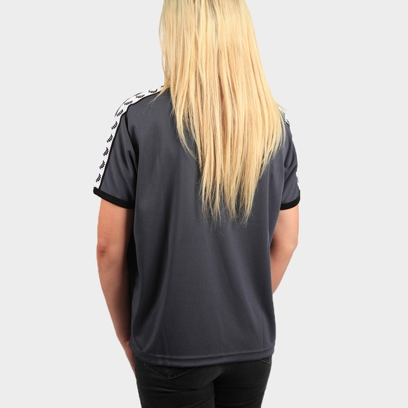 Fred Perry Womens Blue Boxy Taped Ringer T Shirt main image
