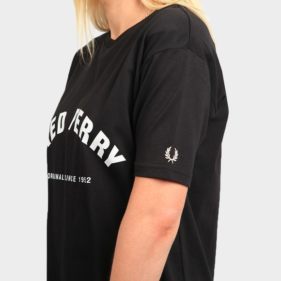 Fred Perry Womens Black Arch Branded T Shirt main image
