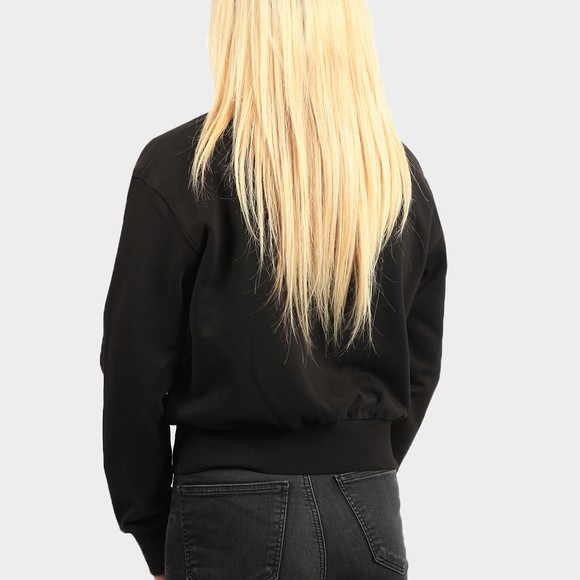 Calvin Klein Jeans Womens Black Logo Trim Sweatshirt main image