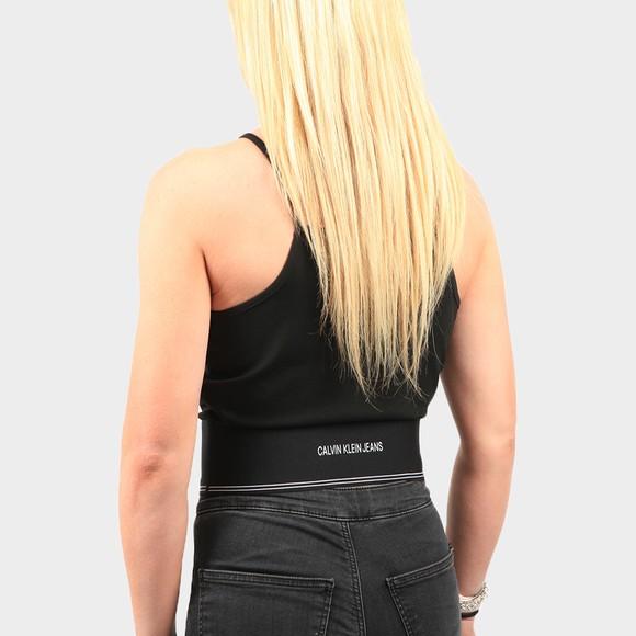 Calvin Klein Jeans Womens Black Milano Square Neck Strappy Tank main image