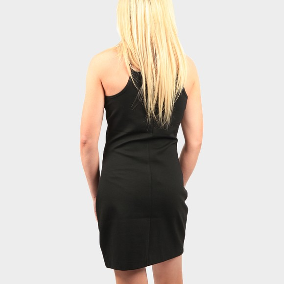 Calvin Klein Jeans Womens Black Milano Square Neck Strappy Dress main image