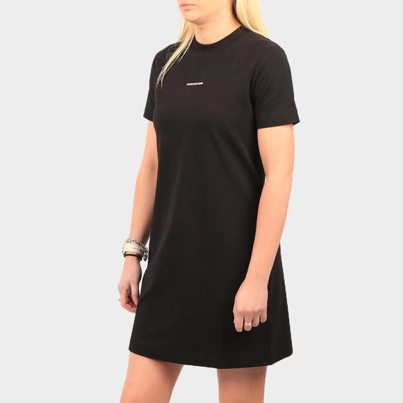 Calvin Klein Jeans Womens Black Micro Branding T-Shirt Dress