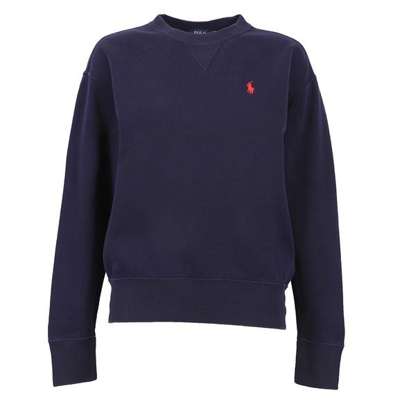 Polo Ralph Lauren Womens Blue Crew Neck Sweatshirt