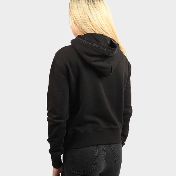 Calvin Klein Jeans Womens Black Logo Trim Hoodie main image