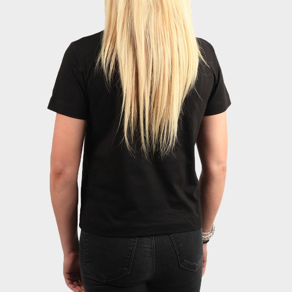 Calvin Klein Jeans Womens Black Logo Intarsia T-Shirt main image