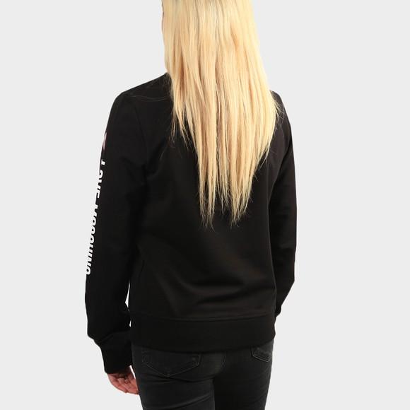 Love Moschino Womens Black Sleeve Logo Sweatshirt main image