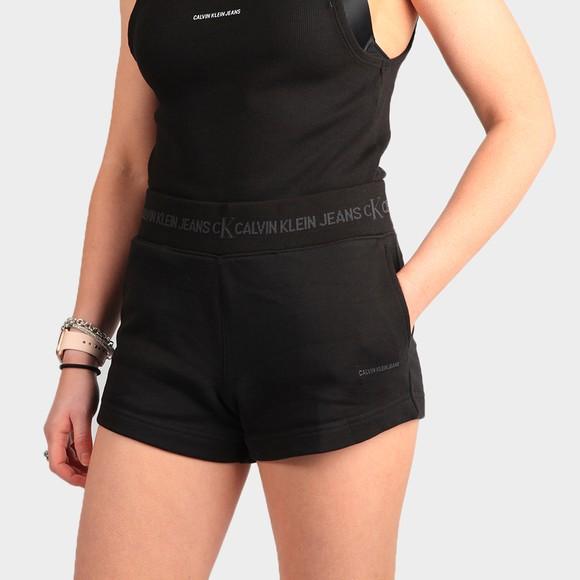 Calvin Klein Jeans Womens Black Logo Trim Jersey Short