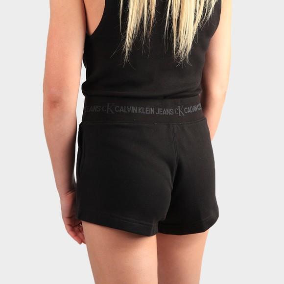 Calvin Klein Jeans Womens Black Logo Trim Jersey Short main image