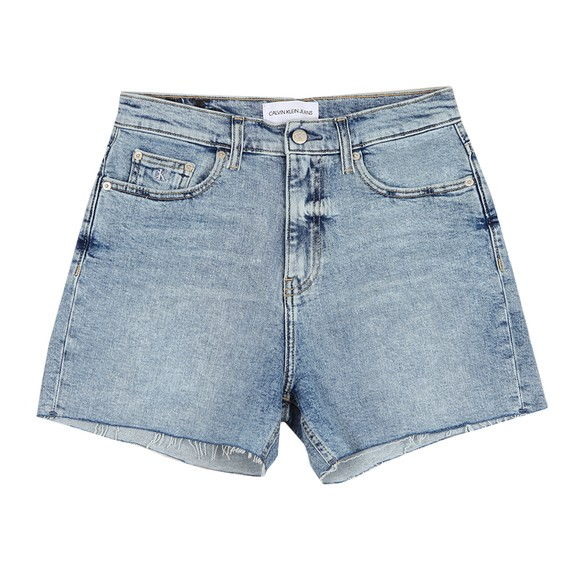 Calvin Klein Jeans Womens Blue Mom Short