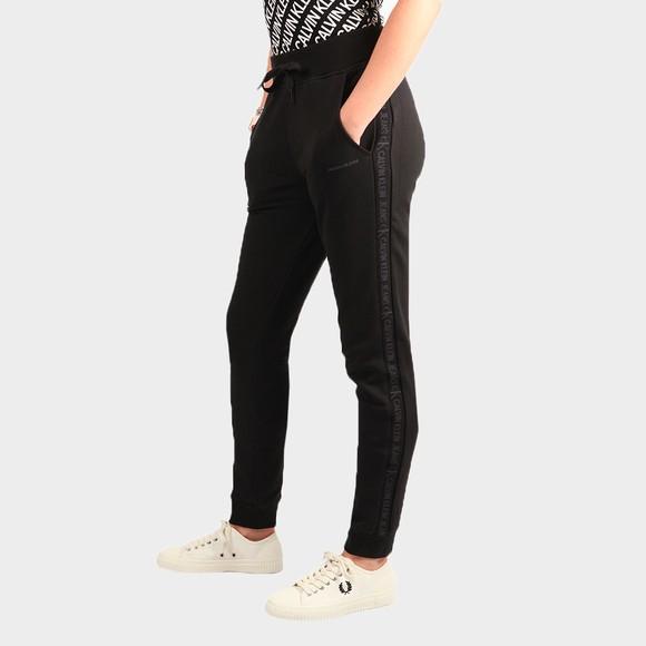 Calvin Klein Jeans Womens Black Logo Trim Jog Pants main image
