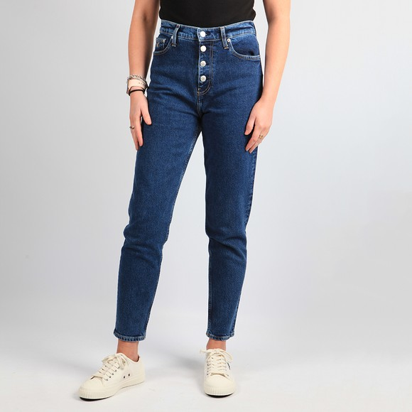 Calvin Klein Jeans Womens Blue Mom Jean