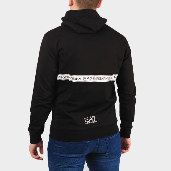 EA7 Emporio Armani Mens Black Tape Half Zip Hoody main image