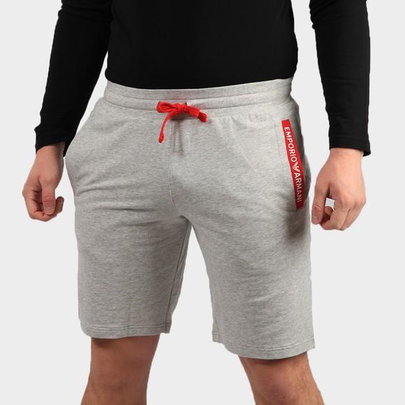 Emporio Armani Mens Grey Pocket Logo Jersey Short
