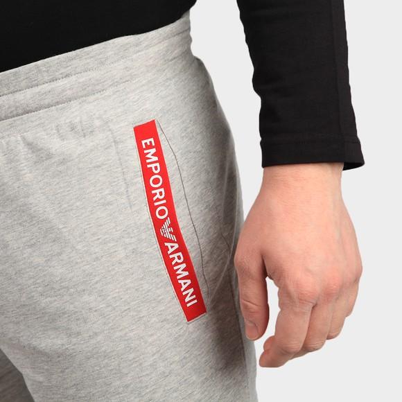 Emporio Armani Mens Grey Pocket Logo Jersey Short main image
