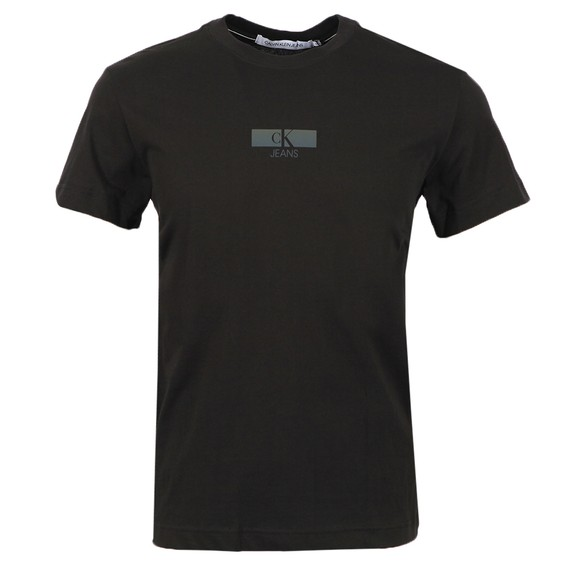 Calvin Klein Jeans Mens Black Urban Iridescent T Shirt