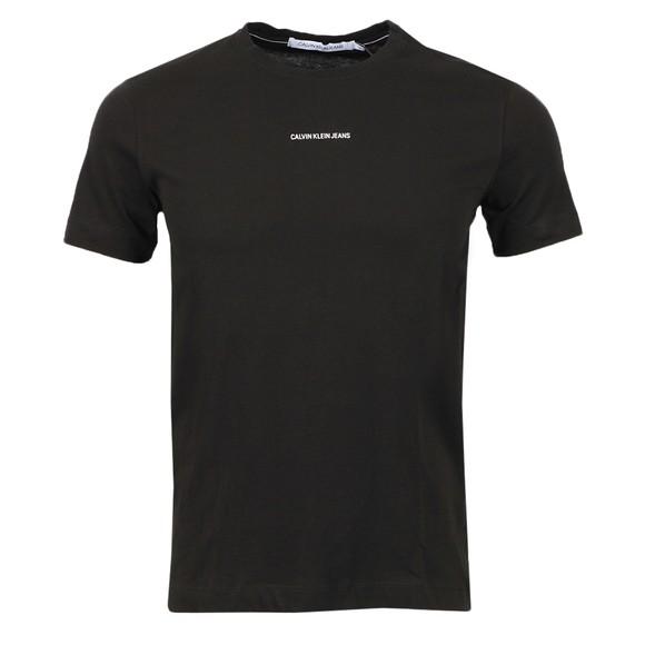 Calvin Klein Jeans Mens Black Micro Branding Essential T-Shirt