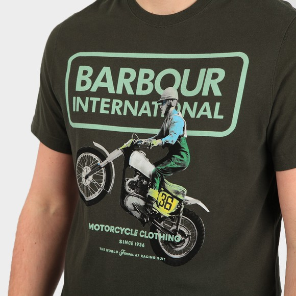 Barbour International Mens Green Archieve Comp T Shirt main image