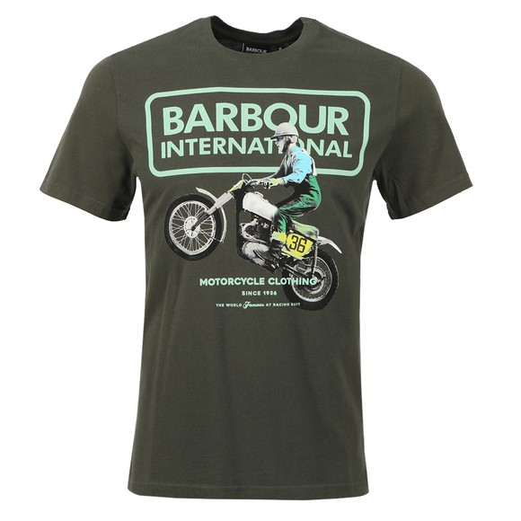 Barbour International Mens Green Archieve Comp T Shirt