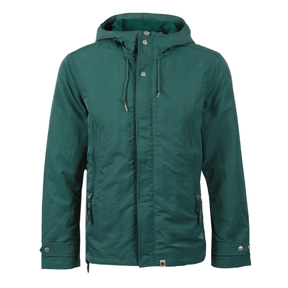 Pretty Green Mens Blue Crinkle Nylon Hooded Jacket