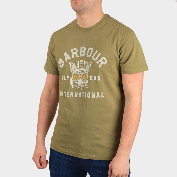 Barbour International Mens Green Understeer T Shirt