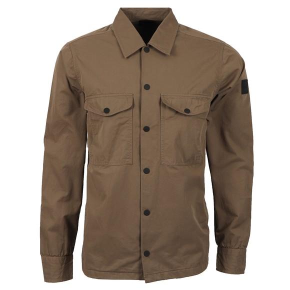 BOSS Mens Brown Casual Lovel_7 Two Pocket Overshirt