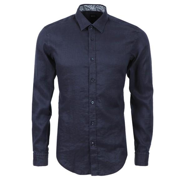 BOSS Mens Blue Formal Ronni Shirt