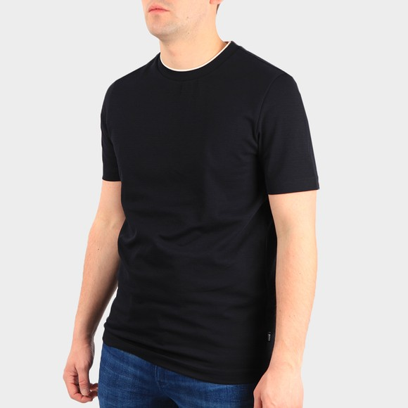 BOSS Mens Blue Formal Tiburt 214 T Shirt