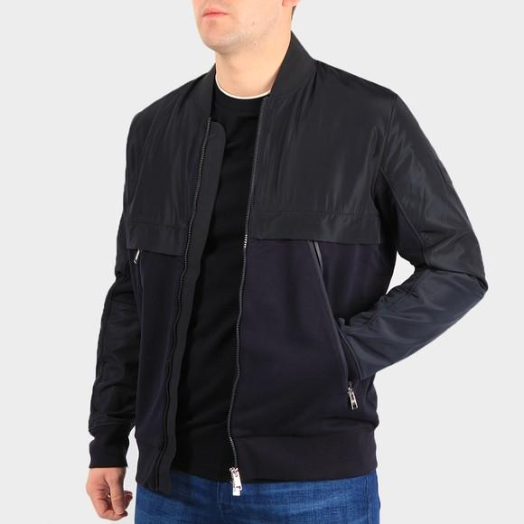 BOSS Mens Blue Formal Skiles Bomber Jacket