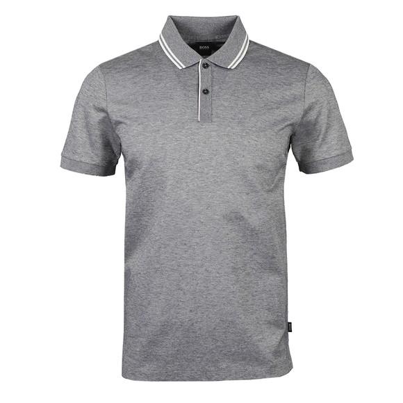 BOSS Mens Blue Formal Parlay 110 Tipped Polo Shirt