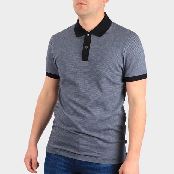 BOSS Mens Blue Formal Parlay 112 Polo Shirt