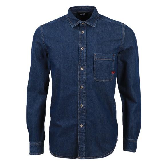 Diesel Mens Blue D-Billy Denim Shirt