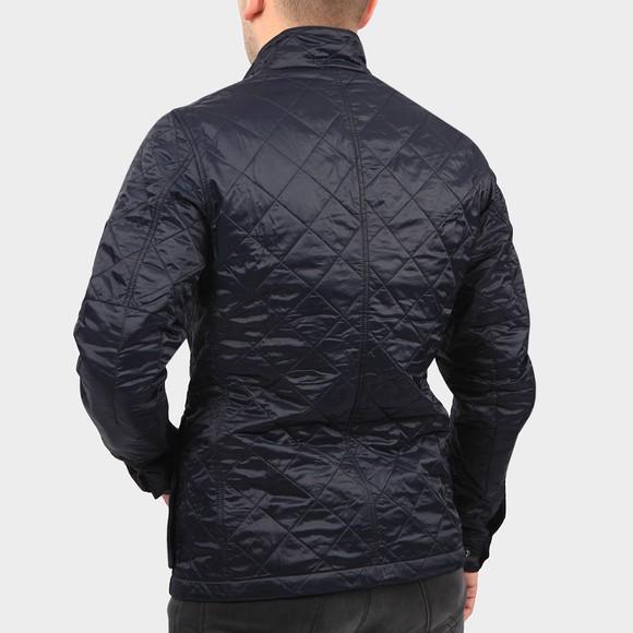 Barbour International Mens Blue Ariel Quilted Jacket main image