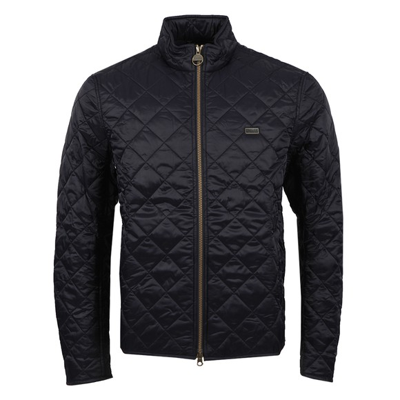 Barbour International Mens Blue Gear Quilted Jacket main image
