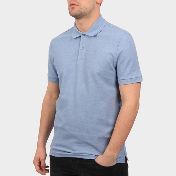 J.Lindeberg Mens Spring Blue Melange Troy Clean Pique Polo Shirt