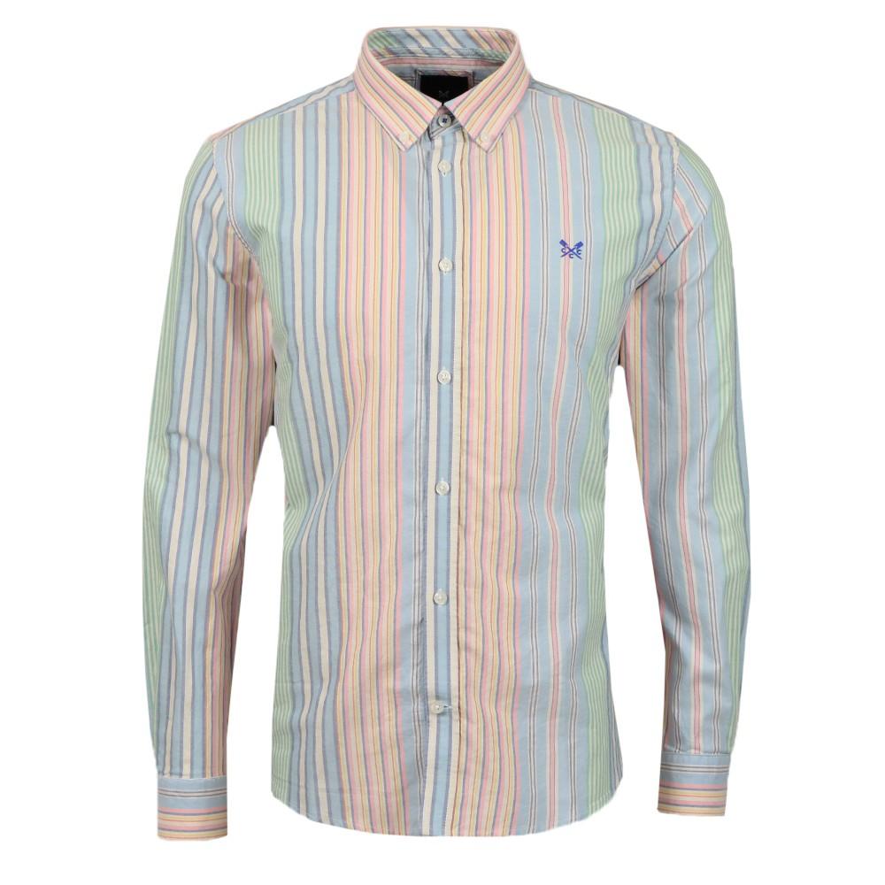 Slim Multi Stripe Oxford Shirt main image
