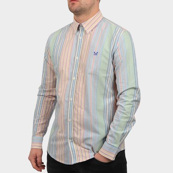 Crew Clothing Company Mens Multicoloured Slim Multi Stripe Oxford Shirt