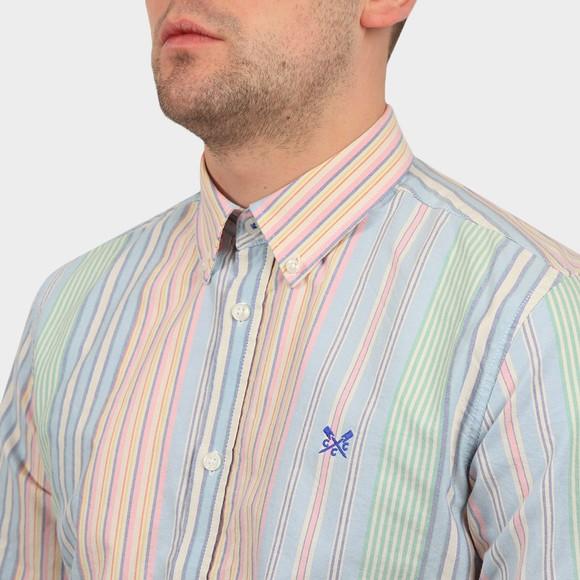 Crew Clothing Company Mens Multicoloured Slim Multi Stripe Oxford Shirt main image