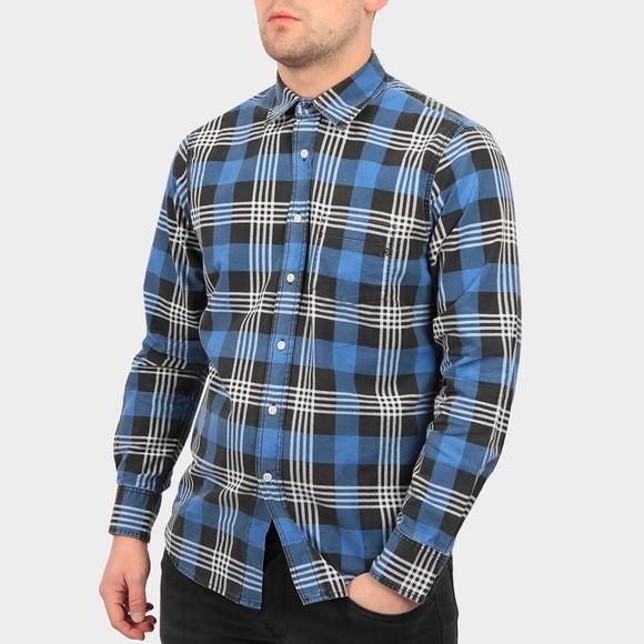 Replay Mens Blue Check Shirt