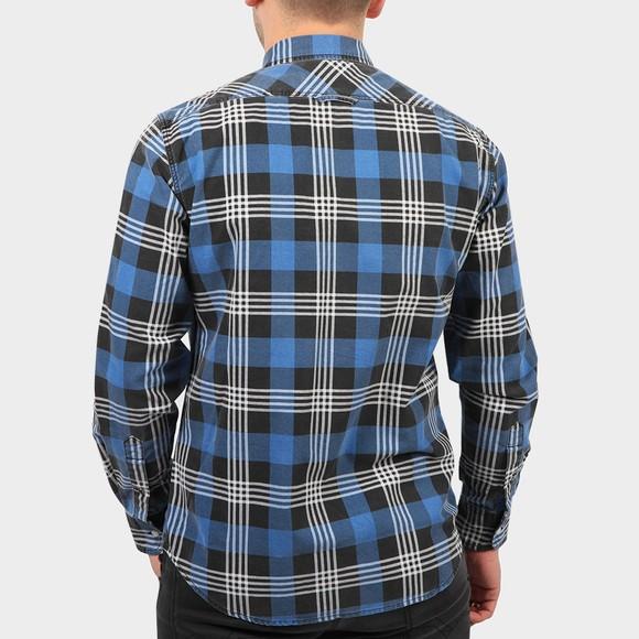 Replay Mens Blue Check Shirt main image
