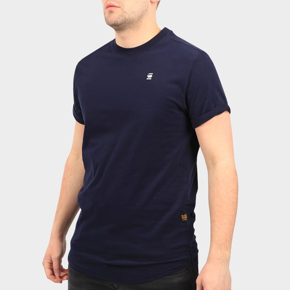 G-Star Mens Blue Lash Crew Neck T-Shirt